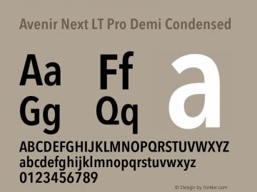 AvenirNextLTPro-DemiCn Version 2.001;PS 002.000;hotconv 1.0.38图片样张