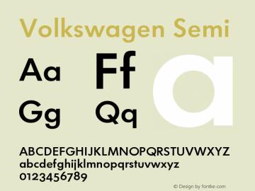 Volkswagen-Semi Version 001.002; t1 to otf conv图片样张