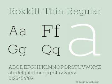Rokkitt Thin Regular 图片样张