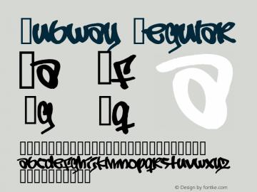 Subway Regular 1.0 Font Sample