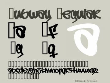 Subway Regular Version 1.000;PS 001.001;hotconv 1.0.38 Font Sample