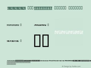 DecoBorders Regular 1.00 Copyright (C) 12/12/98 Created by Denise Clendenin图片样张