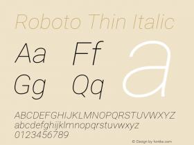RobotoThin Version 1.0图片样张