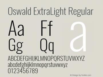 OswaldExtraLight Version 1.0图片样张