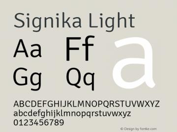 Signika Light 图片样张
