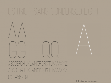 Ostrich Sans Condensed Light 图片样张
