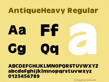 AntiqueHeavy Regular 1.000 Font Sample
