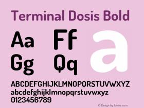 TerminalDosis-Bold Version 1.006图片样张