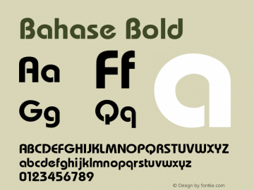 bahase normal font