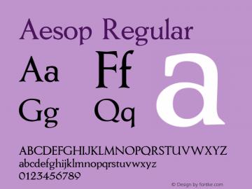Aesop Regular 1.0 Fri May 14 11:37:54 1999 Font Sample
