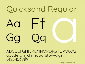 Quicksand Regular 图片样张
