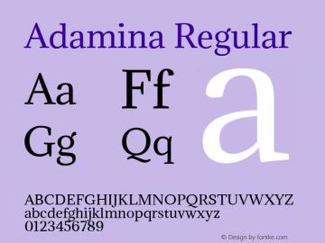 Adamina Regular 图片样张