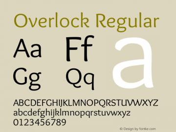 Overlock Regular 图片样张