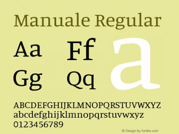 Manuale Regular 图片样张