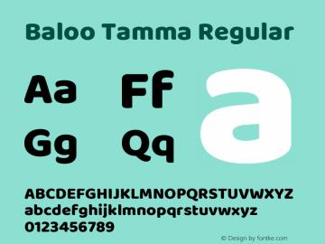 Baloo Tamma Regular 图片样张