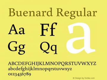 Buenard Regular 图片样张