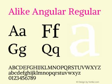 Alike Angular Regular 图片样张