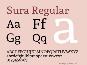 Sura Regular 图片样张