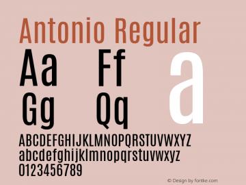 Antonio Regular 图片样张