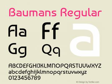 Baumans Regular  Font Sample