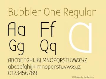 Bubbler One Regular 图片样张