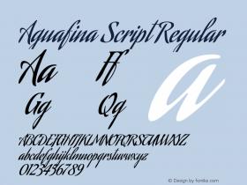 Aguafina Script Regular 图片样张
