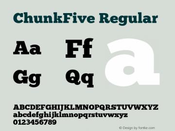 ChunkFive Regular 图片样张
