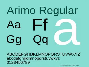 Arimo Regular 图片样张