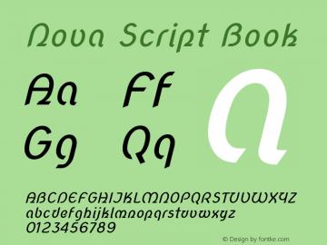 Nova Script Book 图片样张