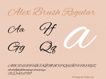 Alex Brush Regular 图片样张
