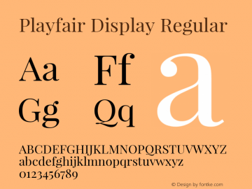 Playfair Display Regular 图片样张