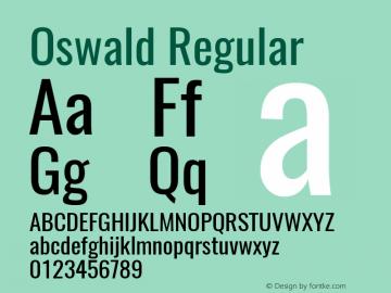 Oswald Regular 图片样张