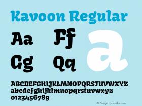 Kavoon Regular 图片样张