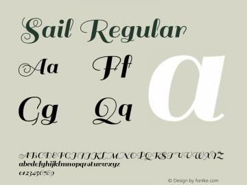 Sail Regular 图片样张
