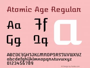 Atomic Age Regular 图片样张