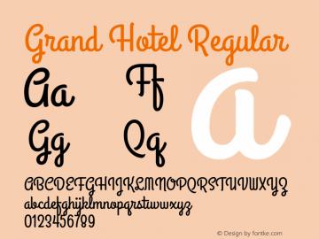Grand Hotel Regular 图片样张