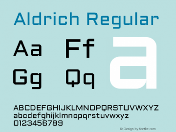Aldrich Regular 图片样张