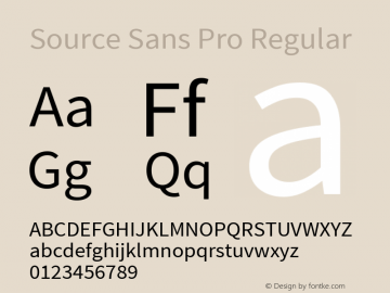 Source Sans Pro Regular 图片样张