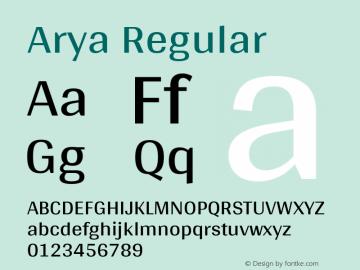 Arya Regular 图片样张
