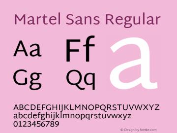 Martel Sans Regular 图片样张