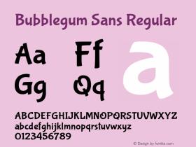 Bubblegum Sans Regular 图片样张