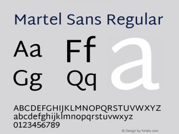 MartelSans Version 1.0图片样张