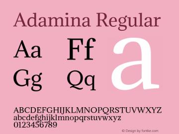Adamina Version 1.0图片样张