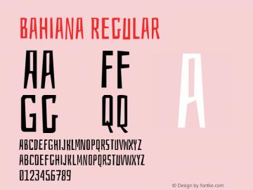 Bahiana Version 1.0图片样张