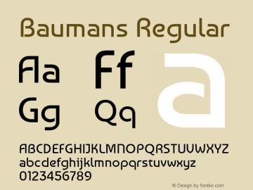 Baumans Version 1.0 Font Sample