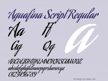 AguafinaScript Version 1.0图片样张