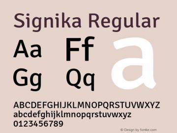 Signika Version 1.0图片样张