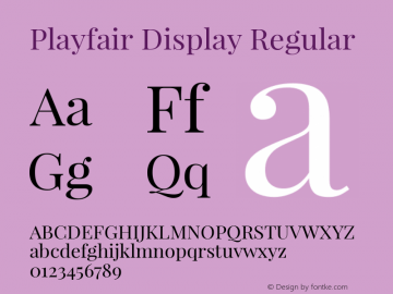 PlayfairDisplay Version 1.0图片样张