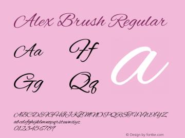 AlexBrush Version 1.0图片样张