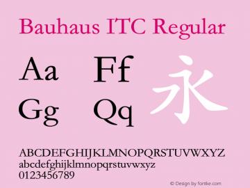Bauhaus ITC Version 1.20 August 6, 2017图片样张